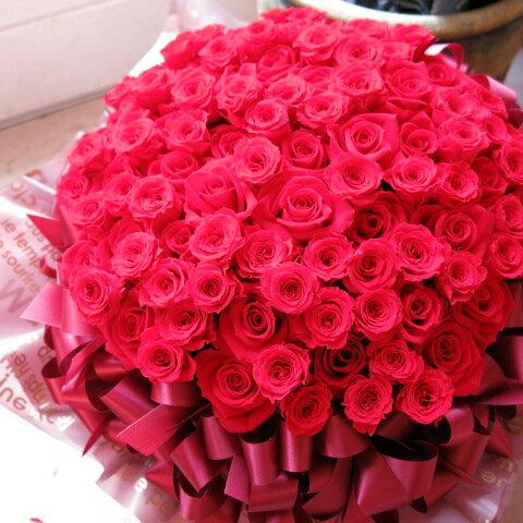 プロポーズ 花 フラワーギフト プリザーブドフラワー 赤バラ 100輪 30×40 ケース付き プロポーズにオススメ♪:フラワーガーデンリーブス