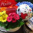 母の日プレゼント 鉢植え ガーベラ 鉢植え スヌーピーバルーン付き 花言葉は感謝♪ ◆母の日ギフト プレゼント 鉢植え 花鉢