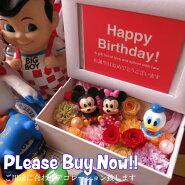 結婚祝いディズニー写真立てフォトフレーム花プレゼントプリザーブドフラワー入りミッキーミニー