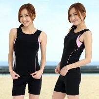 日本製水着レディース水着フィットネス水着セパレート122ノースリレディース女性用ルモード