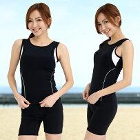 日本製送料無料体型カバー水着レディース水着フィットネス水着セパレート122ノースリレディース女性用ルモードP25Jan15