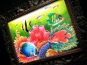 【送料無料】バリ絵画 シーワールドG MSサイズ 額付き LG630 熱帯魚 珊瑚礁 BALI