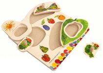 幼児向知育玩具ノブ付き木製パズルはらぺこあおむし5ピース対象年齢2歳以上★新品★1710