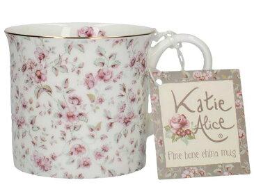 輸入雑貨 マグカップ ホワイトフローラル Katie Alice ケイティ アリス クリエイティブトップス ボーンチャイナ 英国 イギリス MGB3745 Creativetops