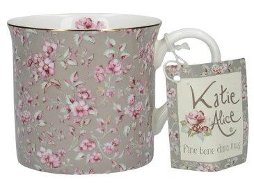 輸入雑貨 マグカップ グレーフローラル Katie Alice ケイティ アリス クリエイティブトップス ボーンチャイナ 英国 イギリス MGB3745 Creativetops