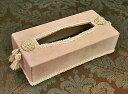 輸入雑貨 ティッシュボックス ピンク Jennifertaylor ジェニファーテイラー ティッシュカバー ベルベット タッセル シャビーシック 姫系 リビングスタジオ 33059TB
