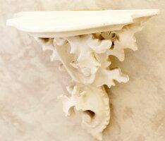 輸入雑貨コンソールアイボリーロココバロック壁掛けウォールシェルフクラシックシャビーシックアンティーク彫刻姫系KBL30WH