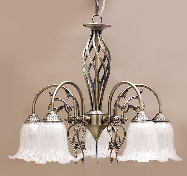 輸入家具 シャンデリア イザベラ 5灯 アンティーク ブロンズ 照明 シャビーシック 豪華 姫系 クラシック LED対応 DL16569-5P-AB 4.8kg