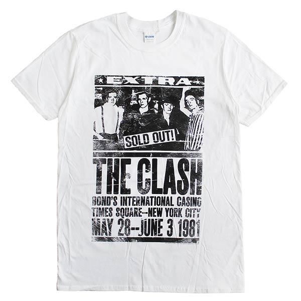 THECLASHザ・クラッシュメンズ半袖Tシャツ「THECLASHBond's1981」ロックTシャツバンドTシャツパンク正規ラ