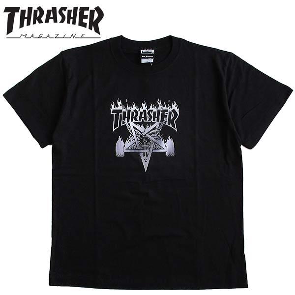 THRASHER/スラッシャーメンズ半袖Tシャツ「SKATEGOATBARSTEE」カラー:BLACK日本正規ライセンス商品