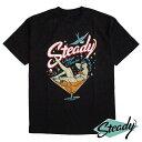 Steady Clothing/ステディークロージング メンズ半袖Tシャツ パンク/PUNK/ロカビリー/Rockabilly/オールディーズ/50's/ロックンロール/カントリー/エルヴィス・プレスリー/Elvis/ジョニー・キャッシュ/ファッション/モッズ