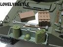 送料無料 HL1/16RC戦車用 プラスチック製 アメリカ軍 装備品アクセサリーセット1 TB/ジェリカン/オイル缶/ヘルメット/木箱