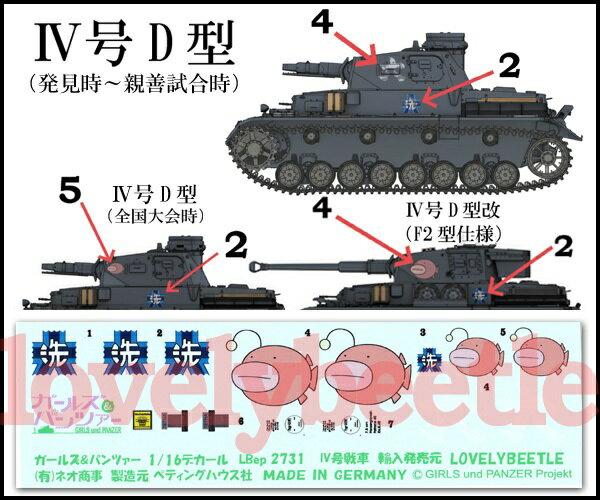 ミリタリー, 戦車 116 4 DD F2 2731 GIRLS und PANZER 4