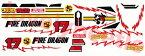 【送料無料】 1/10 ファイヤードラゴン ビニールステッカーセット FIRE DRAGON  4WD ラジコンボーイ WILD RC BOY 車剛(くるま ごう) コロコロコミック 四駆 レーシングバギー タミヤ TAMIYA
