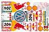 【送料無料】1/10 レーストゥアレグ ビニールステッカーセット TB RACE Touareg VW フォルクスワーゲン レッドブル RedBull