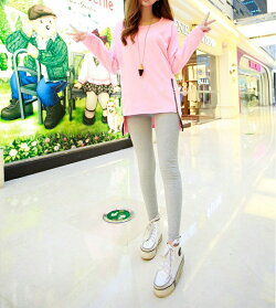 【スレッドリブレギンス】レギンスレディースシンプル韓国かわいいオシャレスパッツタイツトレンカスキニー大きいサイズスリットマタニティ