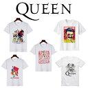 送料無料 queen tシャツ 男女兼用 クイーン tシャツ rock tシャツ queen フレディ マーキュリー tシャツ QUEEN クイーン Tシャツ クィーン ロックTシャツ バンドTシャツ ボヘミアンラプソディ フレディ・マーキュリー Bohemian Rhapsody D10