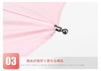 コンパクト折りたたみ日傘UVカット遮光撥水無地晴雨兼用D10