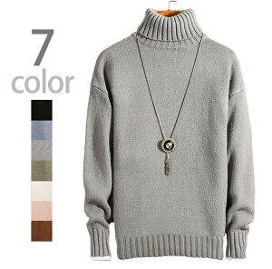 送料無料 ニット セーター タートル ネック ハイネック トップス 長袖 メンズ 秋冬 ホワイト グリーン ブラック グレー コーヒー ブルー ピンク M L XL 2XL 3XL かっこいい