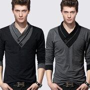 シンプルロング Tシャツ ポロシャツ コットン ヘンリー レディース ロンティー ファッション ジャケット