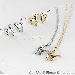 K18ゴールドネコ猫キャット一粒ダイヤモンドネックレスペンダントK18ギフト自分ご褒美0824カード分割05P01Oct16