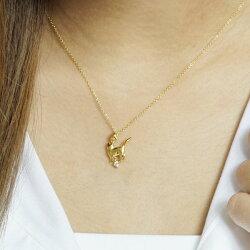 K18ゴールドネコ猫キャットダイヤモンド一粒石ネックレスペンダントK18ギフト自分ご褒美P06May160601カード分割