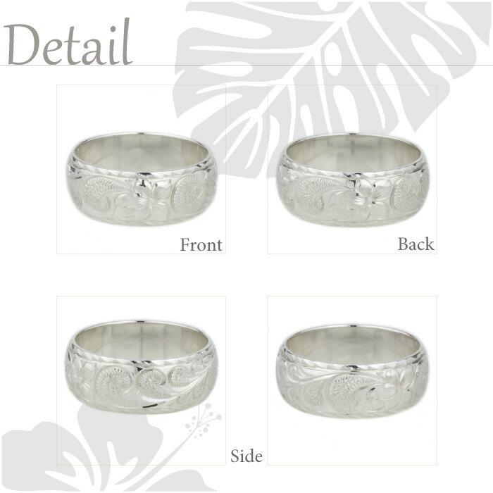 ハワイアンジュエリー ハワイアン メンズ リング K18ゴールド K18WG/YG/PG 地金リング 彫金 手彫り 結婚指輪 エンゲージリング ハンドメイド ハワイ ブライダル