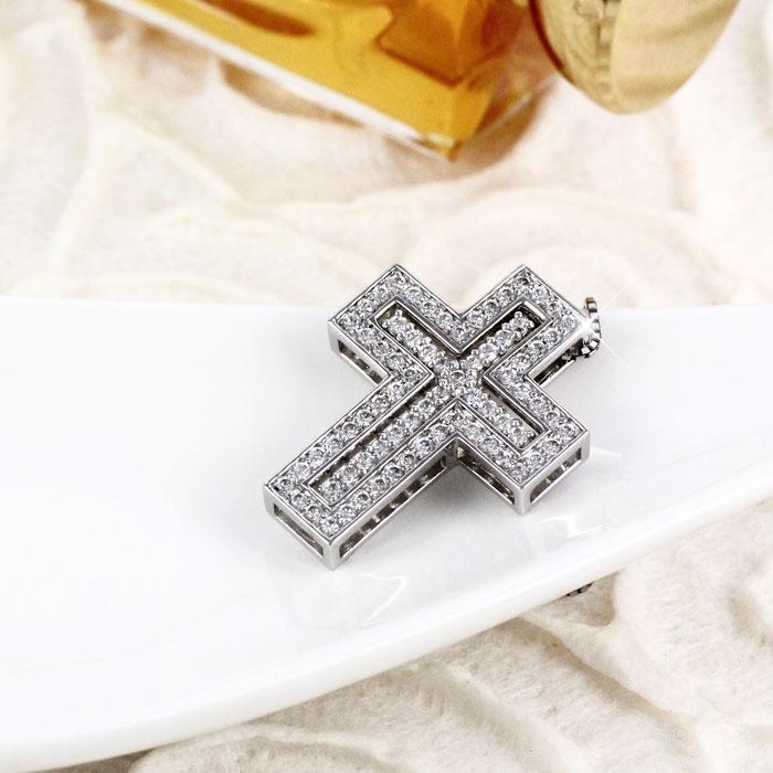 ネックレス ダイヤモンド ペンダント レディース クロス ゴールド k18 18k 18金