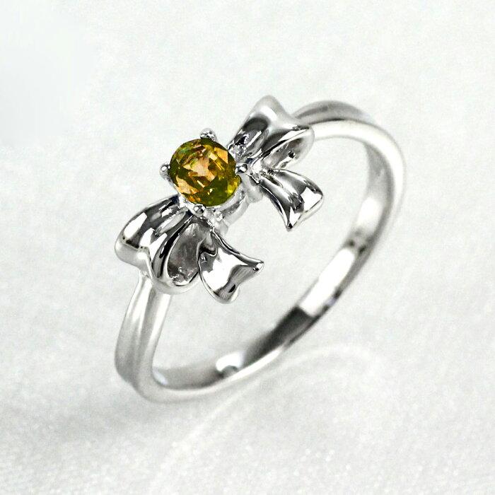 シトリン リング カラーストーン 一粒 オーバル リボン 指輪 誕生石 レディース ゴールド k18 18k 18金