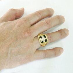 K18ゴールド幅広印台ダイヤモンドリングオニキスクロスメンズリングk18ホワイトゴールドプレゼント誕生日【送料無料】【RCP】【_メッセ入力】【_名入れ】【_包装】