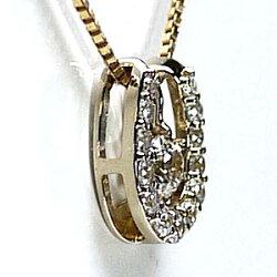 K18ゴールド馬蹄ネックレスダイヤモンドホースシュー3wayペンダントお守り誕生日プレゼント【k18YG】【k18PG】【送料無料】【RCP】【_メッセ入力】【_包装】10P31Aug14