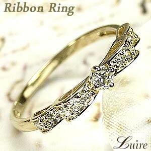 TIME SALE W・リボン SI-クラスダイヤモンドリング.k18ゴールド18K K18ゴールド 【送料無料】W...