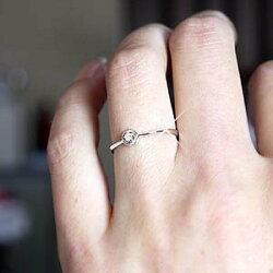 プラチナ900花一粒石フラワーダイヤモンドリング華奢誕生日プレゼント彼女指輪自分ご褒美【送料無料】532P16Jul160601カード分割