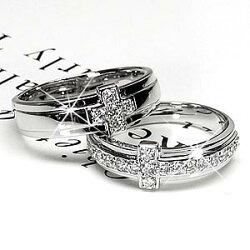 【送料無料】クロスリングダイヤモンドリングシンプル幅広指輪結婚指輪k18ゴールドプレゼントマリッジリング誕生日【05P01Feb14】【RCP】【_メッセ入力】【_名入れ】【_包装】