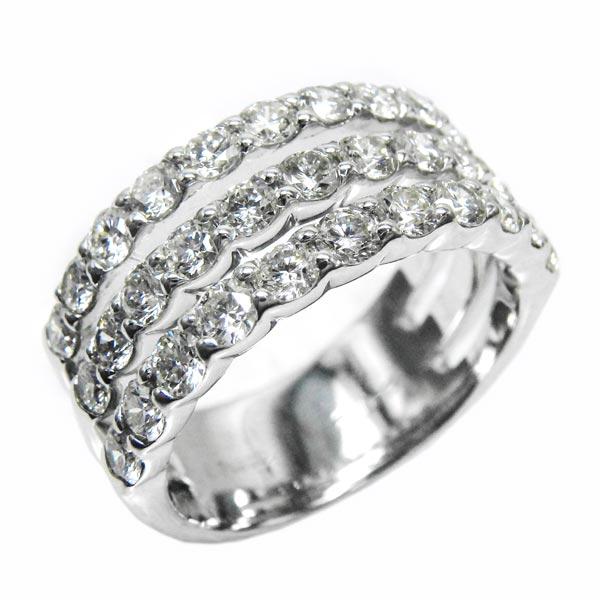 2.00ct エタニティリング 幅広  ハーフエタニティ ダイヤリング  天然ダイヤモンド 鑑定書 プレゼント プラチナ900