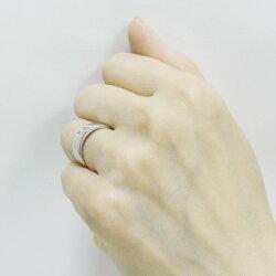 幅広クロスリングK18ゴールド【送料無料】バンドタイプダイヤモンドリング誕生日シンプル自分ご褒美【RCP】【_メッセ入力】【_名入れ】【_包装】02P21Feb15
