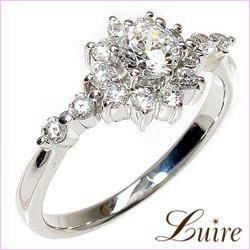 婚約指輪 ダイヤリング0.65ct SIクラス プラチナ900 エンゲージリング指輪 鑑定書 彼女 プラチナ ギフト:luire