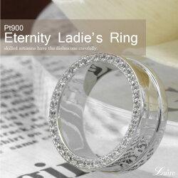 幅広レディースリング側面ダイヤモンドフルエタニティリングプラチナ誕生日記念日Pt900結婚指輪ブライダルリングプレゼントギフト結婚記念自分ご褒美0824カード分割
