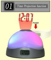 プロジェクションクロック目覚まし時計プロジェクタームードライト映写時計