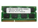 2GB PC3-8500 DDR3-1066 204pin SODIMM PCメモリー 【相性保証付】