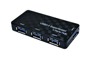 USB3.0対応USBHUB4ポートハブバスパワータイプコンパクトブラック