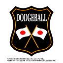 ドッジボールエンブレム(dodgeball)日本国旗デザイン!世界大会や五輪、日本代表応援ワッペン
