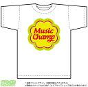 音楽ミュージックチャンピオンTシャツ(DryT-shirt:白)