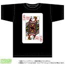 トランプ風スポーツクイーン ブラックTシャツ【サッカー】