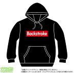 背泳ぎパーカー(backstroke)ストリート系BOXロゴデザインのプルオーバースウェット