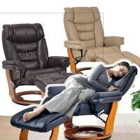 選べる4色上質牛本革(本皮)張り高耐久座面フラット感覚リクライニングチェアRC9000座椅子1人掛け敬老の日ギフト北欧