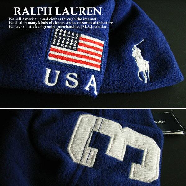 5646e68e2cabd 1312新品☆ラルフローレン RALPH LAUREN☆子供フリースロゴ帽子☆青☆ONESIZE☆子供服