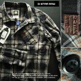 5639新品★ジースター G-STAR RAW★デザインチェックシャツ2501★焦げ茶★XXL★MENS★