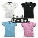 女の子 半袖Tシャツ CJ3395 チャンピオン 半袖 Tシャツ 01白 08黒 19桃 10水 130cm 140cm 150cm 160cm Champion 子供服 こども 女の子 キッズ ジュニア 半T ra-ksu206