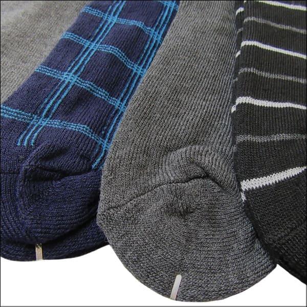 靴下 メンズ クルー丈 パイルソックス 5足組 色柄おまかせ set0362 メール便は♪ 男性 紳士 くつした くつ下 靴下 ソックス セット 足